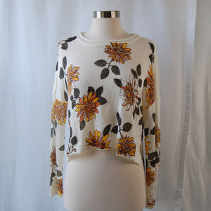 {Alter'd State} Knit Floral Crop Sweater Sz Medium